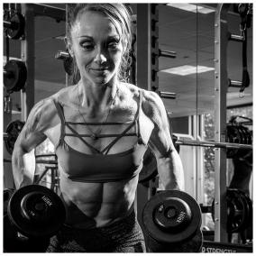 Photographed for C-ville Weekly... http://www.c-ville.com/bodybuilder-severine-bertret-trains-compete/